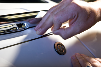 The Hands of Goodwood: The pin-stripe, or coachline, painted on a Rolls-Royce