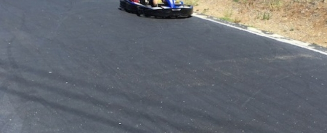Besting Daniel in the go-kart, ready for F1