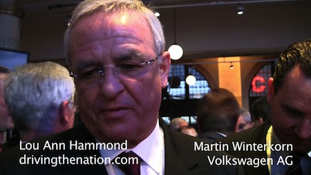 Volkswagen AG's CEO, Winterkorn is out, Martin and VW AG board speak on driving the Nation