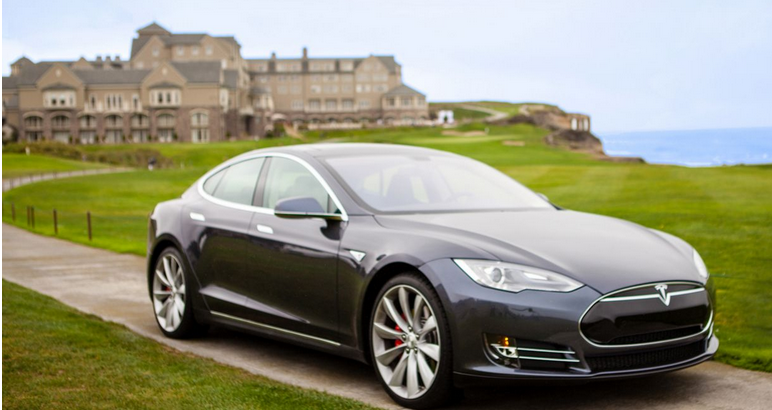 ritz-carlton, half moon bay, tesla model s