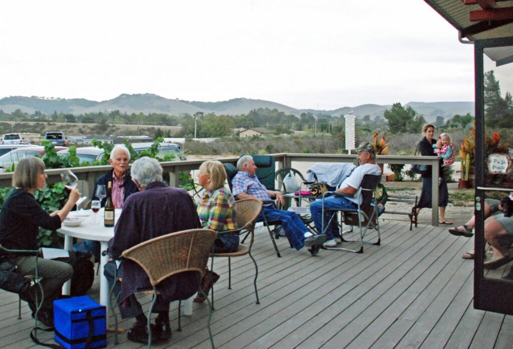 Autry Cellars wine tasting on the pation