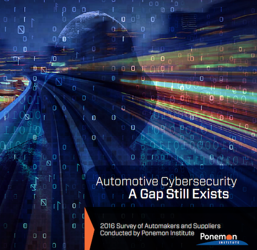 automotive cybersecurity study conducted by the Ponemon Institute