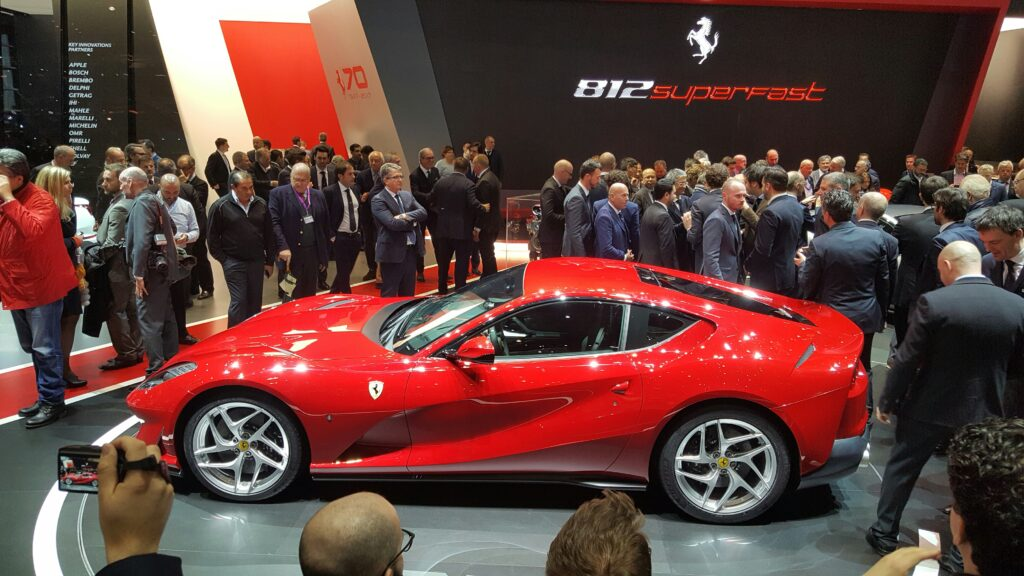 Ferrari 812 Superfast It is 800hp of pure naturally aspirated power with 0 to 200 of 7.9 secs. courtesy Ian Beavis
