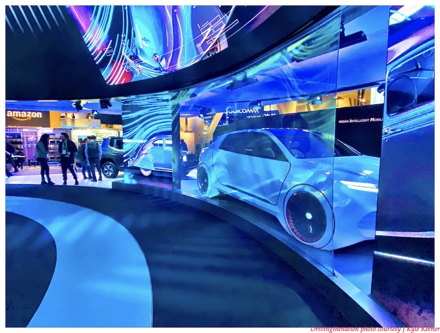 Fiat Chrysler's AIRFLOW VISION concept car on display at their booth at CES 2020, in Las Vegas, Nevada, this past week. Photo by J. Kyle Keener