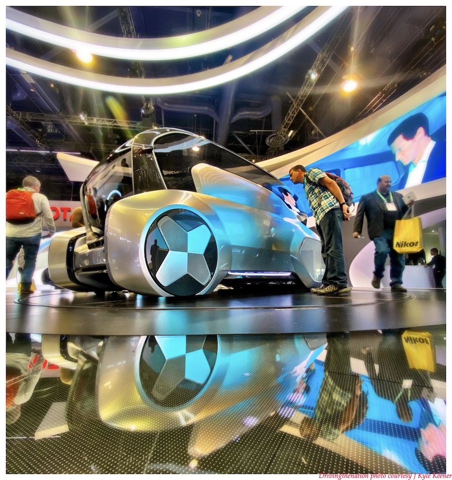 The Hyundai Mobis future mobility concept autonomous driving vehicle at their booth at CES 2020, in Las Vegas, Nevada, this past week. Photo by J. Kyle Keener