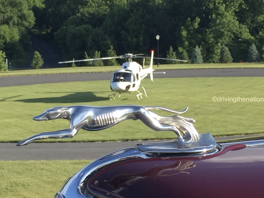 The NB Center for American Automotive Heritage helicopter and Ford