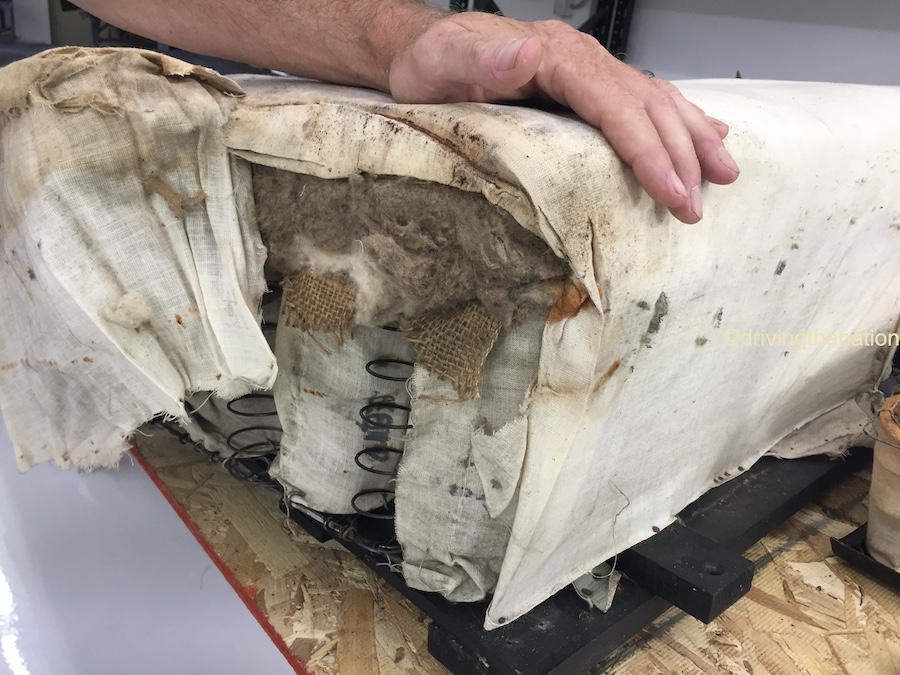 The NB Center for American Automotive Heritage creating a new seat from old