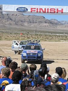 finish-225x300 2005 DARPA Grand Challenge Automobiles and Energy Podcasts Racing Robots Technology Universities
