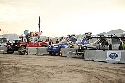 Start of the 2005 DARPA Grand Challenge