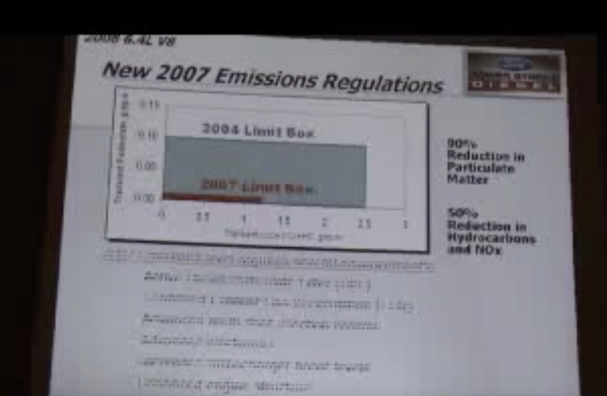 2007 Diesel Emission Regulations
