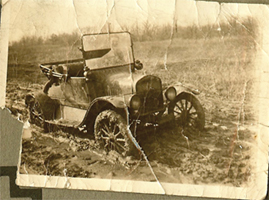 A Model A stuck in the mud