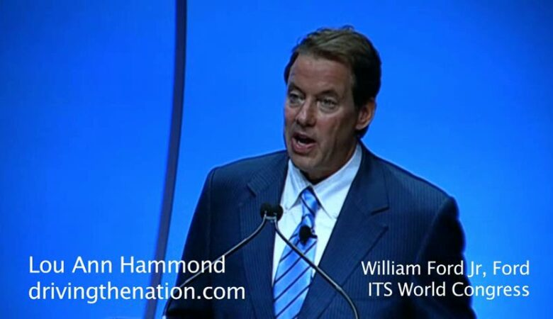 Bill Ford keynote speaker at 18th World Congress on Intelligent Transport Systems (ITS)