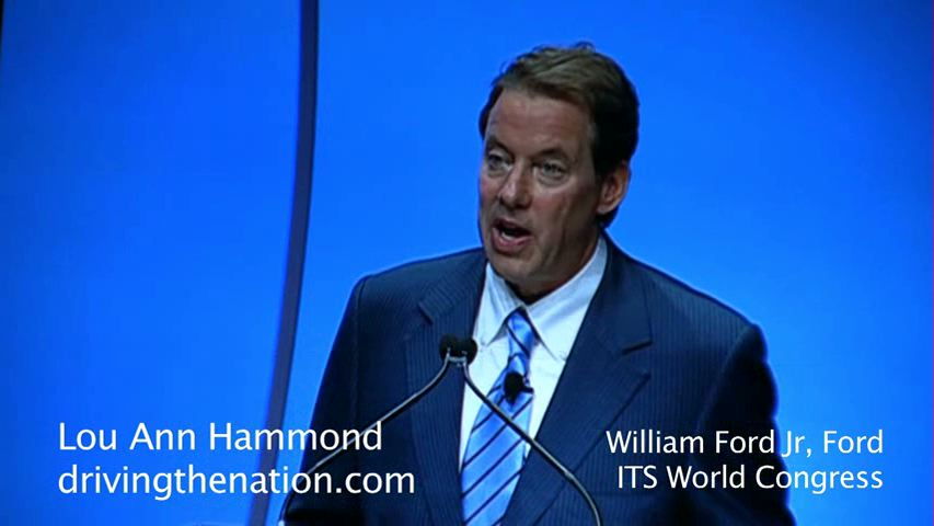 Bill Ford keynote speaker at 18th World Congress on Intelligent Transport Systems (ITS)