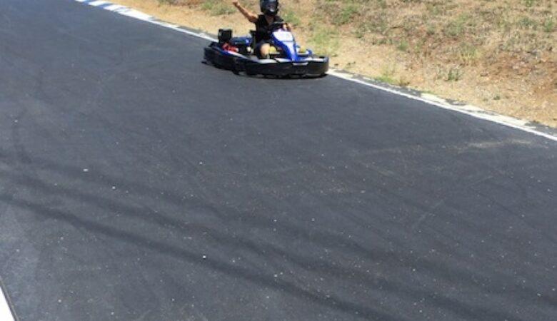 Besting Daniel in the go-kart, ready for F1