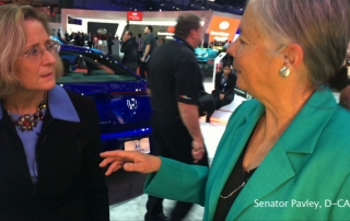 Senator Fran Pavley (D-CA) at the Los Angeles Auto Show (LAAS)