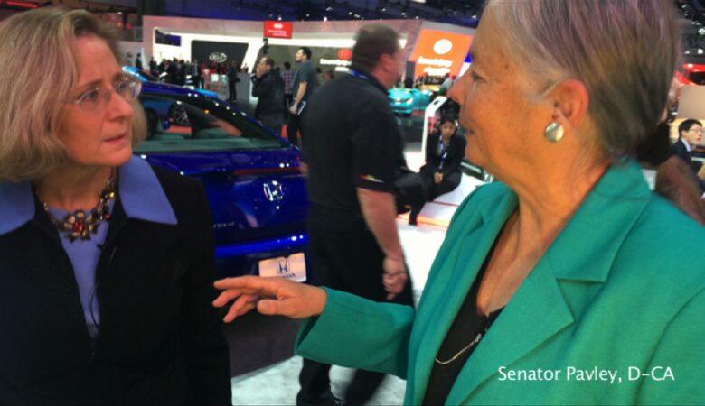 Senator Fran Pavley (D-CA) at the Los Angeles Auto Show (LAAS)