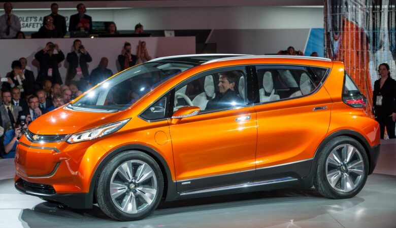 The Chevrolet Bolt EV concept vehicle makes its global debut Monday, January 12, 2015 at the North American International Auto Show in Detroit, Michigan. The Bolt EV concept is Chevrolet's vision for an affordable, long-range, all-electric vehicle designed to offer more than 200 miles of range - starting around $30,000. (Photo by Jose Juarez for Chevrolet)