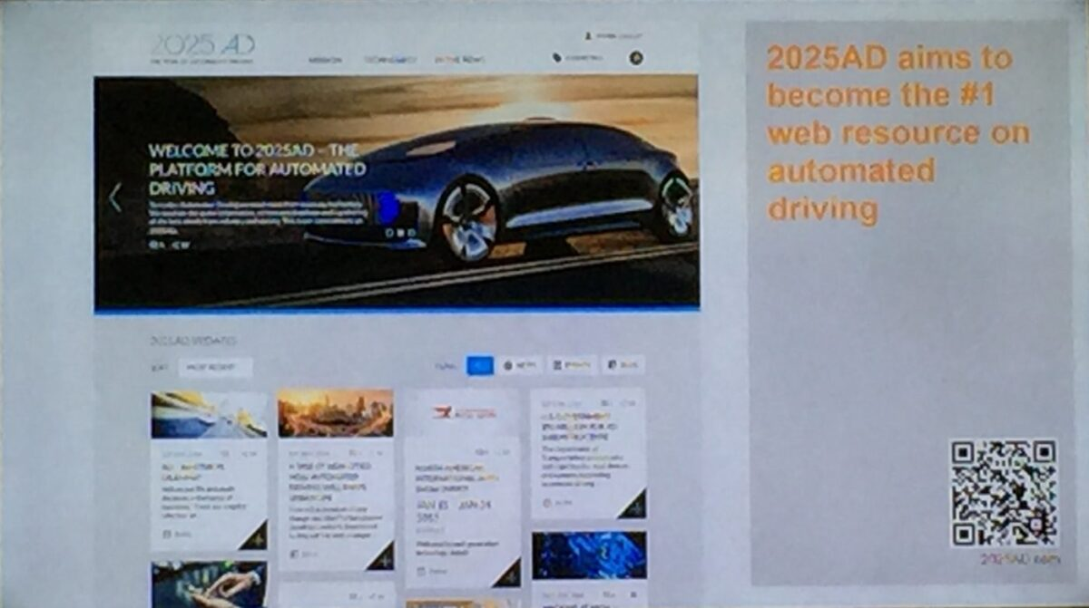 automated driving, website, 2025ad.com, letstalkaboutit,