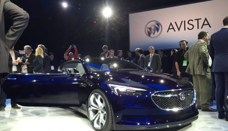 General Motors, Marry Barra, Ed Welburn, at the Buick Avista concept car unveil