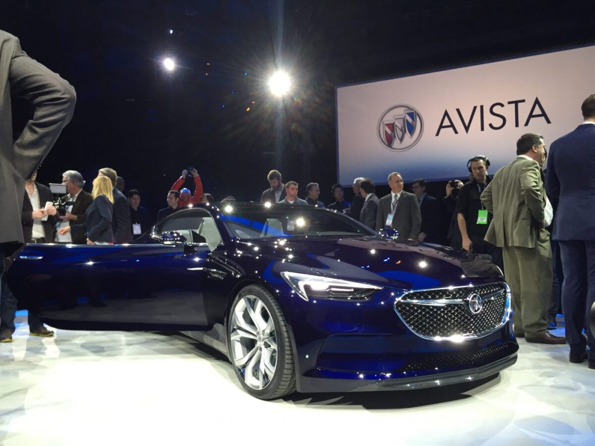 General Motors, Marry Barra, Ed Welburn, at the Buick Avista concept car unveil