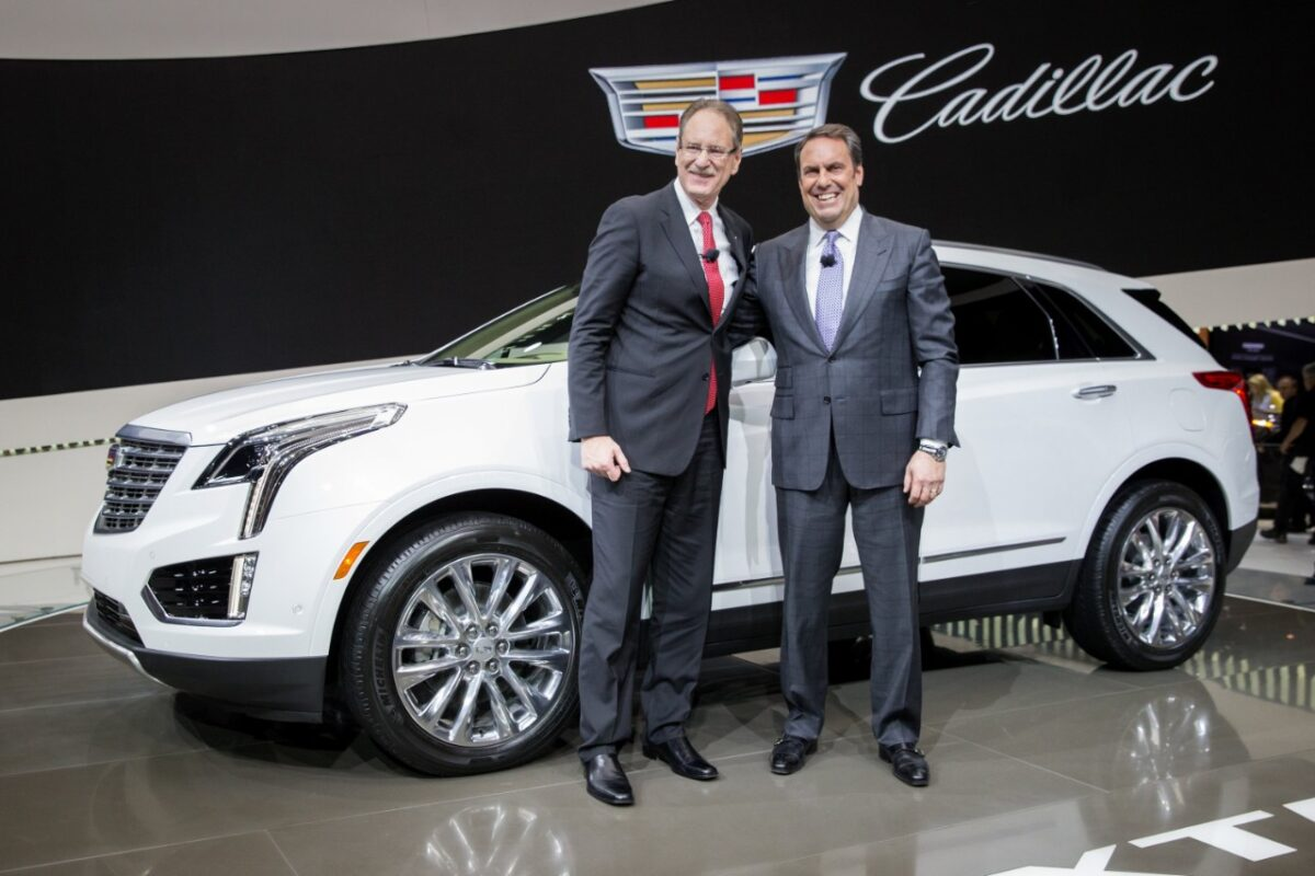 Cadillac President Johan de Nysschen (left) and GM VP Global Product Mark Reuss