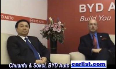 BYD's Chairman Wang Chuanfu at the Shanghai auto show