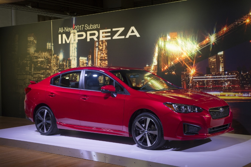 2017 Subaru Impreza sedan and 5-door at NYIAS