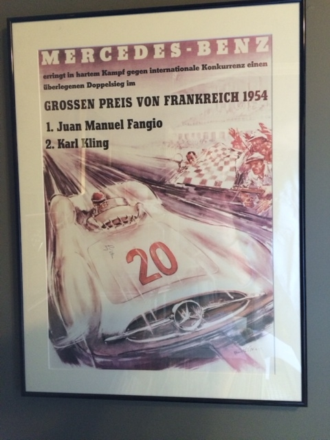 Bid on Moss and Fangio poster for charity