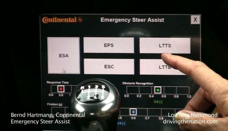 Continental's Emergency steer assist concept