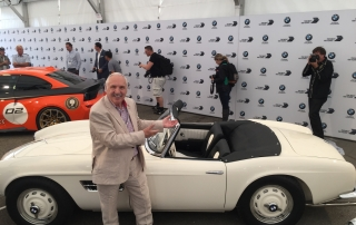 Bill Hetzler with Elvis Presley's BMW 507