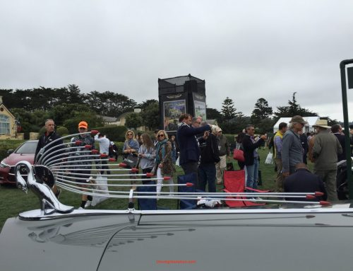 Hood ornaments at Pebble Beach Concours