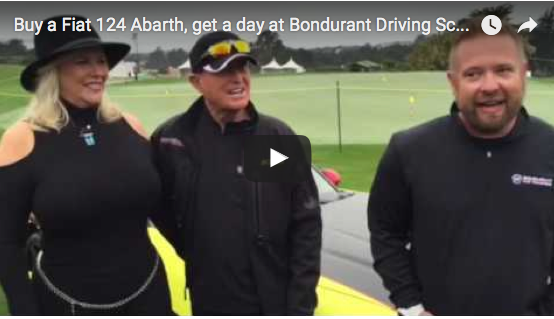 Buy a Fiat 124 Abarth, get a day at Bondurant Driving School – free
