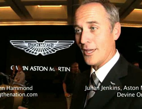 The Aston Martin One-77 and Julian Jenkins, VP, Aston Martin Americas
