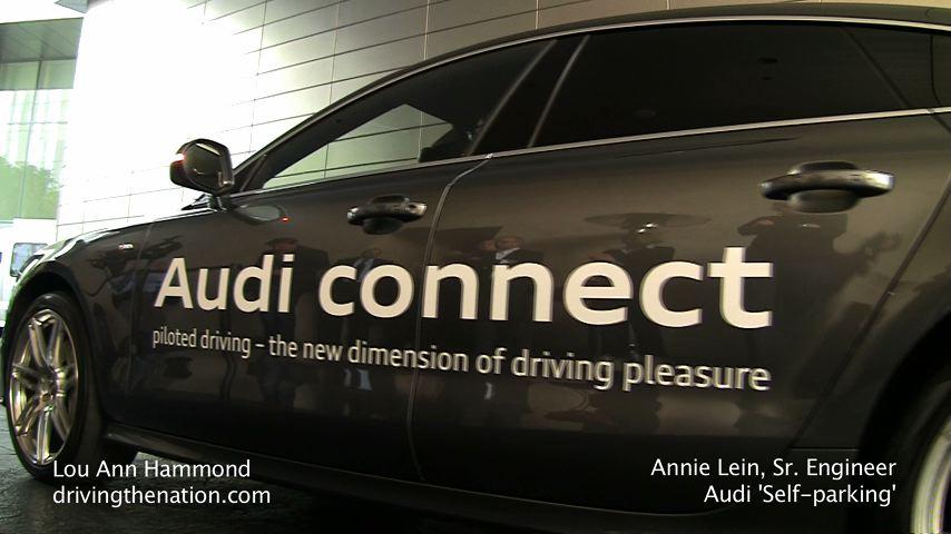 Annie Lien And Audis Pilotedparking Car At CES Driving The Nation - Audi self parking