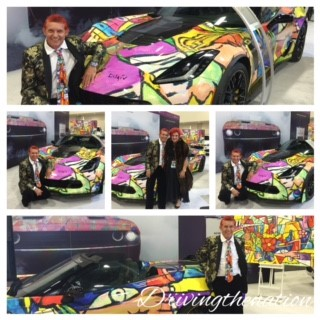 Duaiv, the artist that painted the ode to Picasso on a 2016 Chevy Corvette Z06