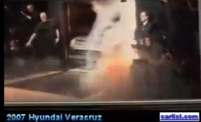 2007 Hyundai Veracruz unveil Detroit auto show