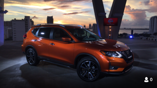 Nissan Rogue at the Miami auto show