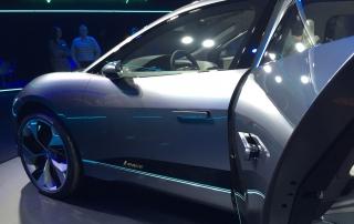 Jaguar I-Pace concept car scrum with Ian Callum, chief car designer