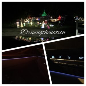 Looking at Christmas lights on the Genesis G90