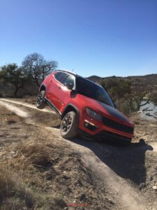 Off-roading in a 2017 Jeep Compass Trailhawk