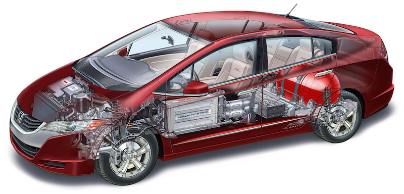 2011 Honda FCX Clarity hydrogen fuel cell vehicle