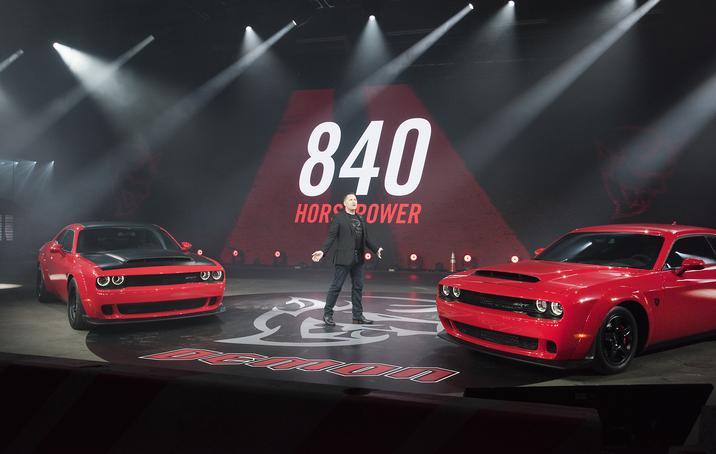 2018 Dodge Challenger SRT Demon 840hp unveil