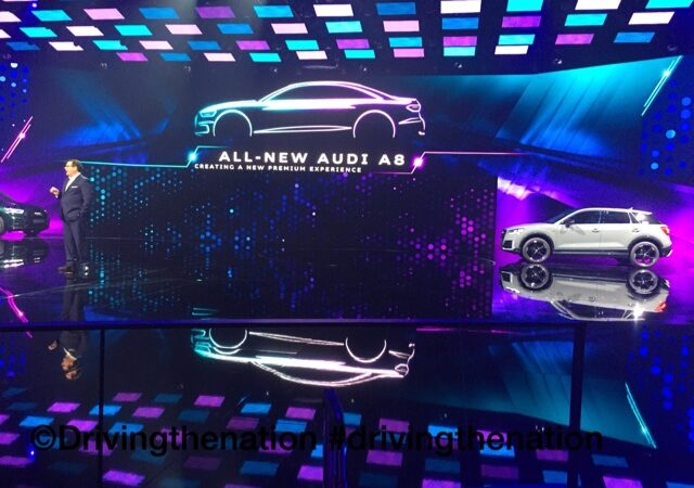 24-hour party to introduce the 2018 Audi A8, in Barcelona, Spain