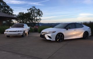 Before and after Toyota Camrys - now stylish and reliable