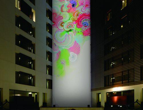 Park Hotel art show in Tokyo, Japan