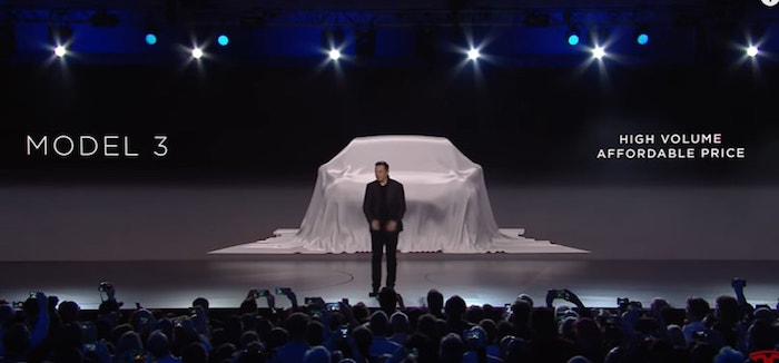 Tesla Unveils Model 3 with CEO Elon Musk
