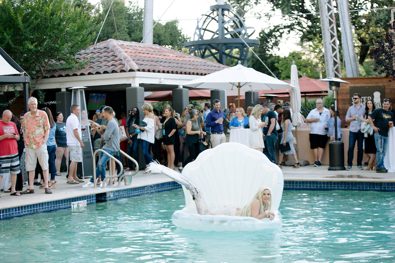 The hottest pool party in the Wine Country