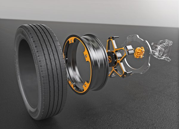 The dual New Wheel Concept for electric vehicles (EV)