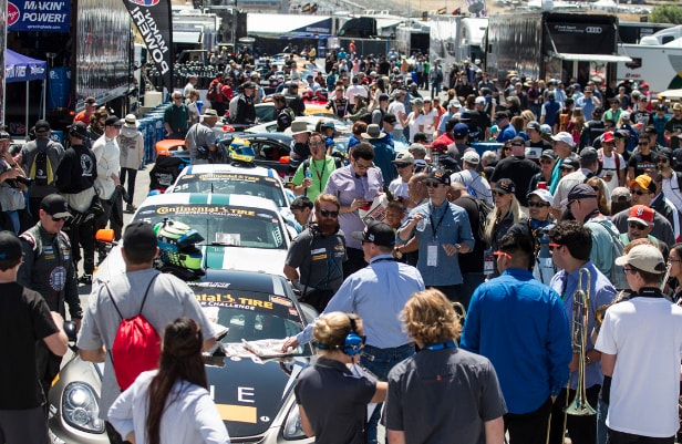 Honoring Military at Mazda Laguna Raceway