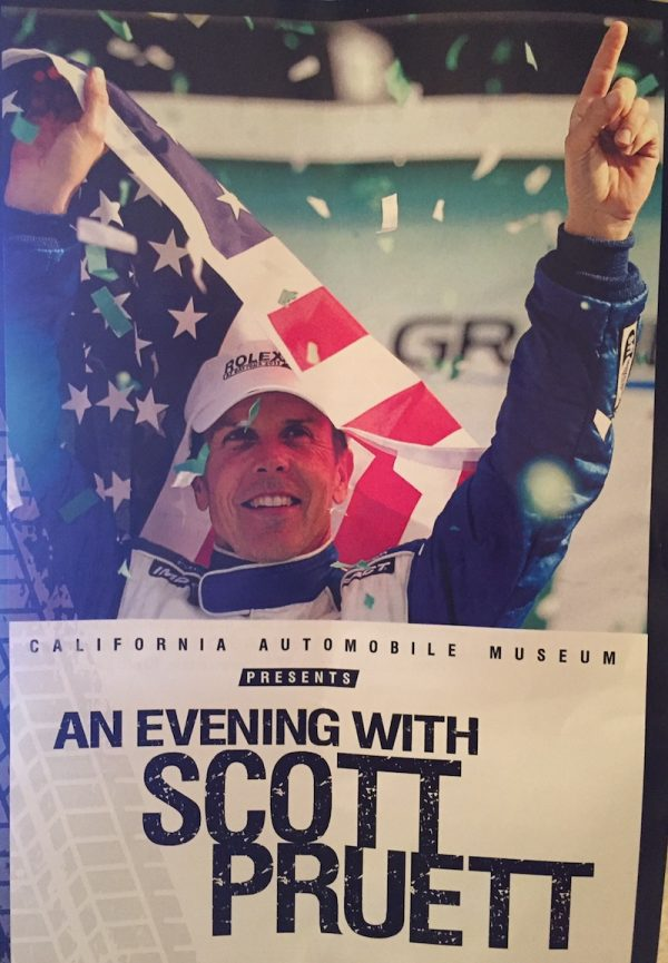 Scott Pruett honored at charity event at California Auto Museum